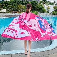 速干游泳吸水浴巾大毛巾男女成人旅行沙滩巾浴袍海滩度假必备用品