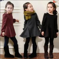 韩国童装女童秋冬装连衣裙新款长袖打底裙中大儿童加绒公主裙