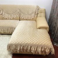 家纺2017秋冬新款沙发套欧式真皮沙发垫坐垫实木沙发垫绒布四季垫