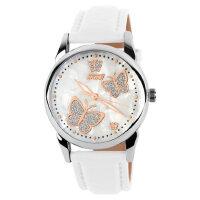 户外运动个性女士时尚甜美气质蝴蝶款防水石英皮带手表女表腕表