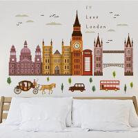 客厅电视背景墙壁现代创意装饰墙纸贴画可移除儿童卧室书房墙贴纸