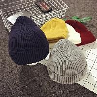 儿童毛线帽冬季套头帽宝宝帽子男女童针织帽色韩版潮保暖护耳帽