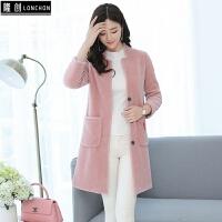 秋冬季新款韩版羊羔毛外套女中长款羊剪绒反季皮草大衣时尚潮