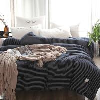 家纺日式简约色织水洗棉被芯加厚保暖被子冬被春秋被芯单双人被褥床品 200*230cm 8.5斤