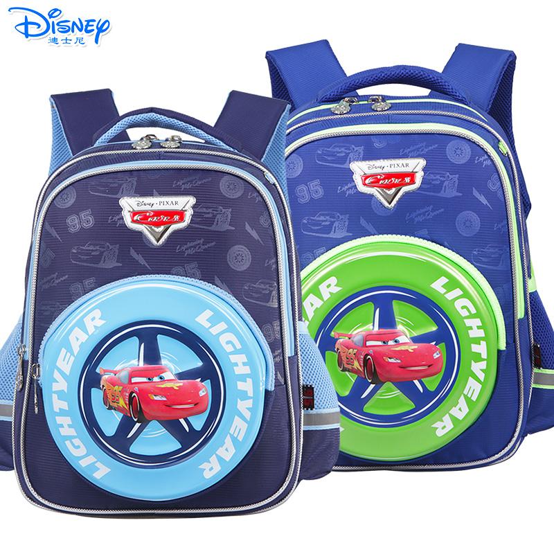 Disney/迪士尼 麦昆汽车男童小学生1-3年级卡通双肩减负护脊书包RB0078