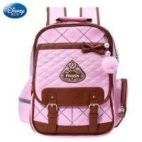 迪士尼书包小学生女童1-3-4年级公主英伦减负护脊双肩包儿童背包