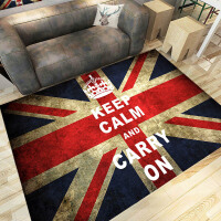 米字旗欧式客厅地毯简约现代沙发茶几地毯卧室床边北欧英伦地毯