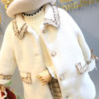 女童夹棉小香风毛呢大衣中小儿童名媛风保暖呢子外套