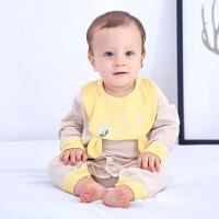 【六一到手价:43】婴儿连体衣四季新生儿内衣服纯棉哈衣