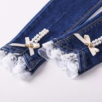女童牛仔裤儿童裤子童装女孩长裤
