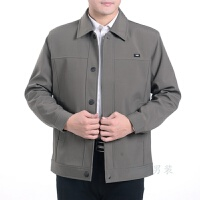 中年男士夹克衫40岁男装外套爸爸装50春秋薄60中老年父休闲夹克