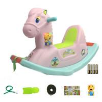 儿童摇马男宝宝带音乐木马玩具 摇摇马塑料1-6岁幼儿园小孩摇木马