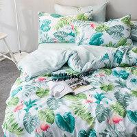 家纺全棉床上四件套纯棉宿舍三件套床单被套1.8m2.0田园公主风