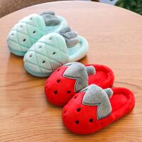 儿童棉拖鞋冬女童卡通防滑1-8岁宝宝包跟居家用保暖小孩男童棉鞋