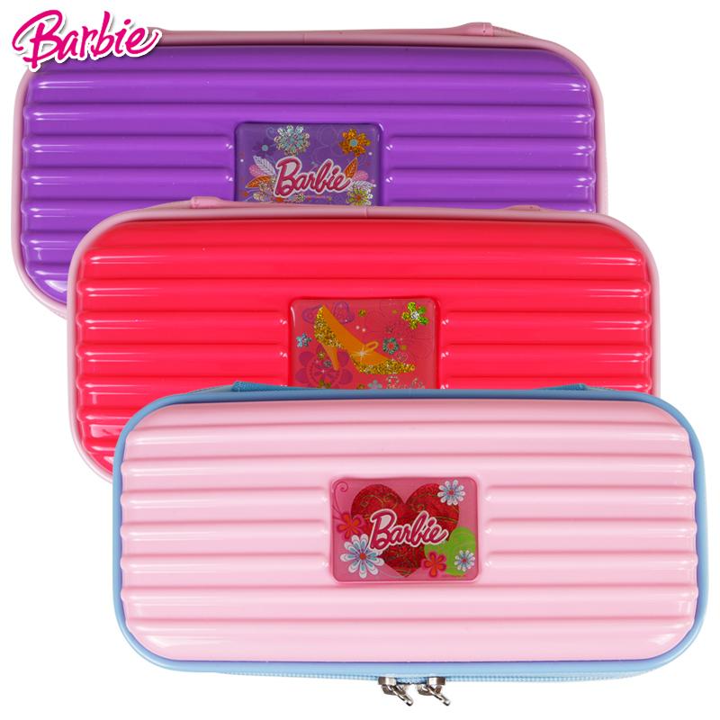 芭比公主小学生笔袋多层防撞女童文具盒多功能儿童铅笔盒学习文具