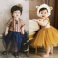 2018新款春季儿童摄影服装韩版影楼拍照服饰 百天1岁宝宝照相童装
