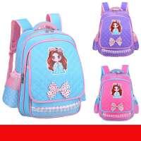 一年级书包女一二四五年书包小学生双肩背包女童韩版男女休闲校园减负 A款 粉红色大号 3-6年级