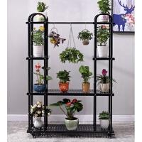 铁艺多层花架子室内多功能落地阳台绿萝吊篮花架客厅可移动花盆架