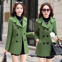 中年妇女装毛呢外套中老年妈妈装秋冬秋装30-40-50岁短装妮子上衣
