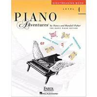英文原版 菲伯尔钢琴基础教程(4级):视奏 Piano Adventures: Level 4: Sightreadin