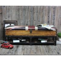 英伦美式复古收纳凳储物服装店沙发凳坐凳换鞋凳 欧式床尾凳