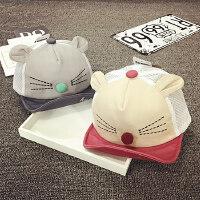 宝宝帽子夏天网帽遮阳帽棒球帽男女婴儿帽6-12-24个月春秋鸭舌帽