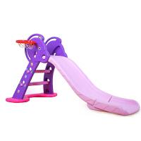 儿童音乐滑梯韩版室内玩具 卡通小鹿上下可折叠滑梯房户外爬行玩具健身新年礼物