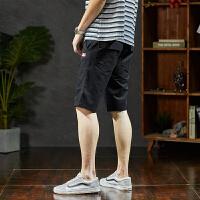 【2件2.5折】唐狮短裤男潮五分裤休闲短裤男夏天男士短裤夏季宽松休闲短裤