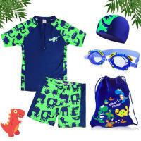 儿童泳衣男童泳裤套装男孩分体小中大童小恐龙游泳衣宝宝套装