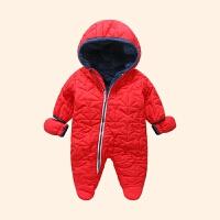 男宝宝冬装0一1岁连体衣婴儿童装潮宝宝连体衣冬女0一1岁婴儿加厚