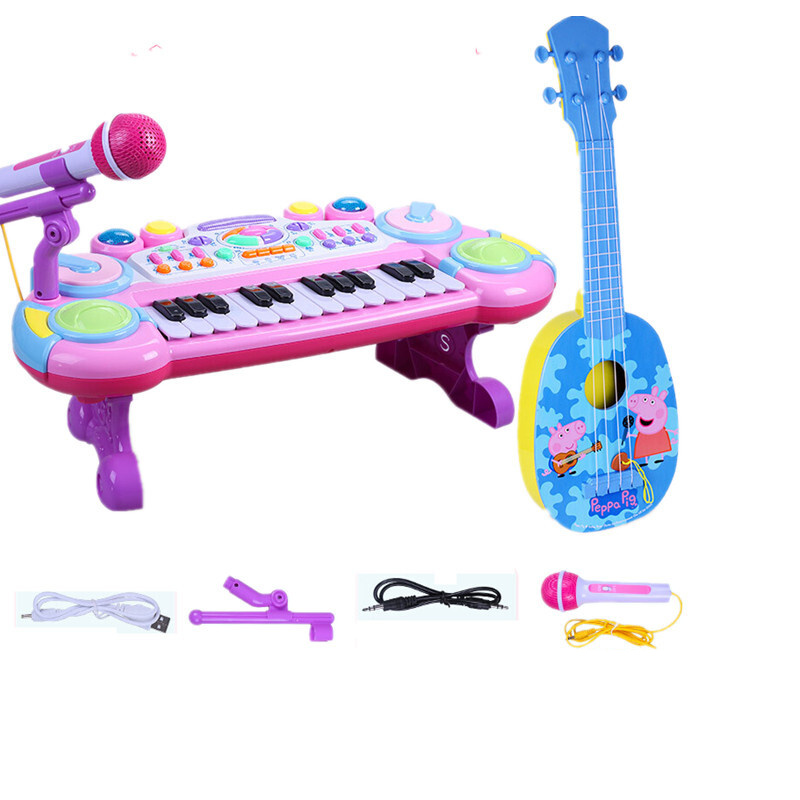 儿童玩具电子琴婴幼儿钢琴女孩宝宝早教麦克风玩具琴12个月1-3岁0