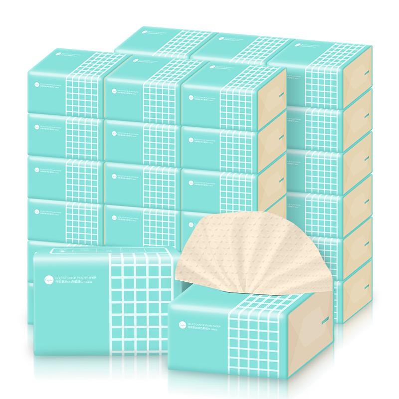 喜朗谷斑丽人本色抽纸24包装3层加厚款餐巾纸竹浆纸巾整箱卫生纸家用面巾纸 加厚柔韧 不易破 亲肤柔软 弹润触感