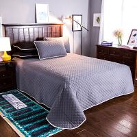 简约床上单件床盖纯色空调被四季床单防滑三件套隔脏床盖被子床单