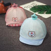 宝宝帽子1-2岁薄款夏防晒遮阳帽男童帽女童棒球帽婴儿网帽儿童帽