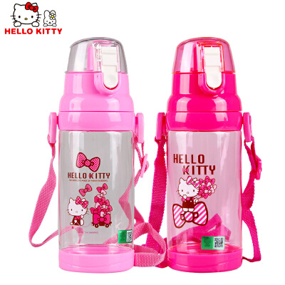 Hello Kitty 儿童可爱卡通塑料夏天500ML大容量直饮水杯KT-3636