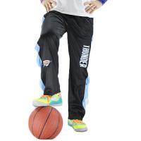 雷霆队全开运动长裤 威少篮球训练裤 出场服 B雷霆黑色
