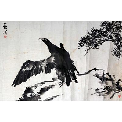 L64潘天寿《鹰》