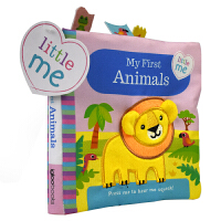 Little Me My First Animals 小小的我 动物主题 儿童英语布书触摸机关书 幼儿感官感知培养 亲