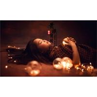 LED彩灯透明圆球 装饰闪灯串灯 橱窗店铺灯满天星 摄影拍照道具