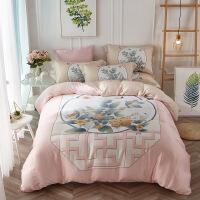 家纺天丝四件套家纺床品被套件1.8床上用品4件套床单被套夏四件套