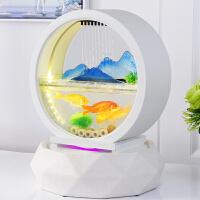 装饰品摆件创意摆设酒柜办公室流水喷泉鱼缸客厅小型
