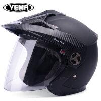冬季摩托车头盔男四季通用半覆式电动车安全帽女越野机车半盔