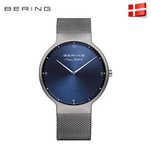 bering白令手表北欧进口腕表 简约时尚商务钢带男女表077