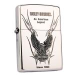 芝宝 Zippo 打火机 熏银雕刻贴章 HDP-10哈雷戴维森展翅雄鹰