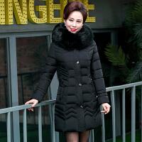 中年女装棉衣妈妈装冬装中长款羽绒40-50岁中年妇女加厚外套