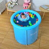 宝宝新生儿大号保温婴儿游泳桶支架小号婴幼儿童游泳池