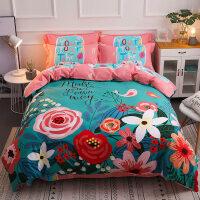 棉加厚秋冬3d四件套棉床品1.8m床上用品被套床单欧式婚庆