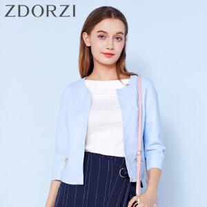 zdorzi卓多姿纯色甜美气质小香风皮衣短外套女832107