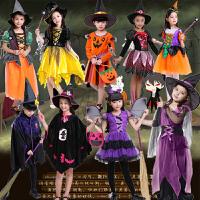 万圣节儿童演出服装Cosplay表演服女童女巫天使公主小法师演出服