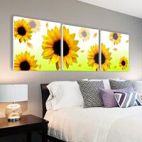 向日葵客厅装饰画餐厅卧室挂画沙发背景壁画无框画黄金满地